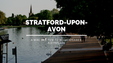 shakespeare's birthplace with study work travel blog