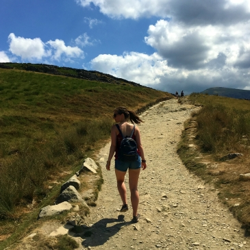 climbing Snowdon at study work travel blog
