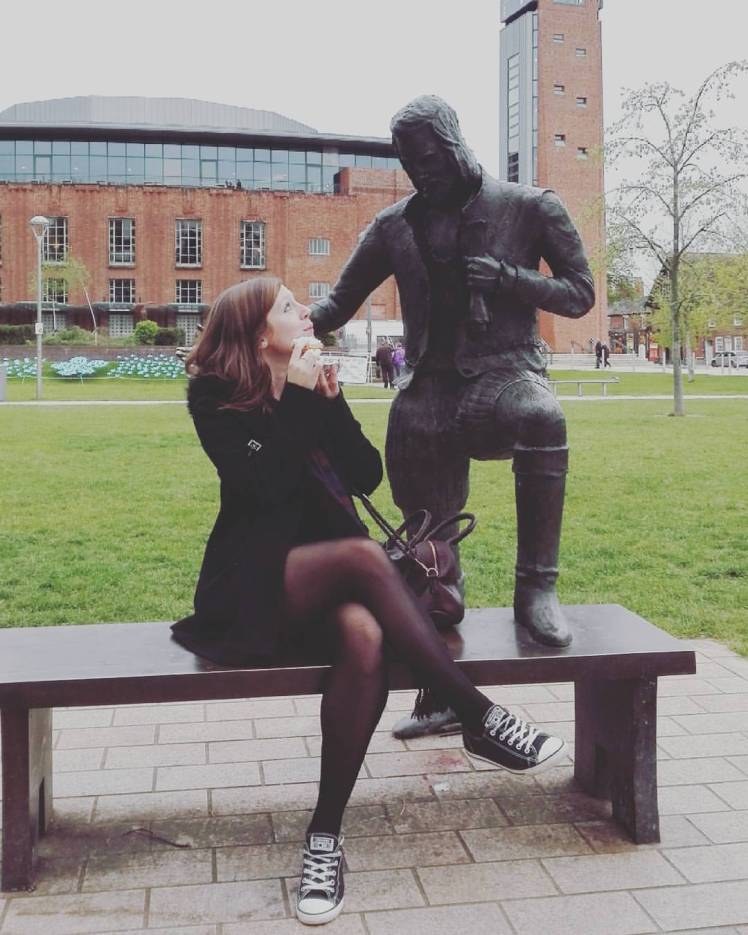 Shakespeare statue at Royal Shakespeare Theatre Stratford upon Avon