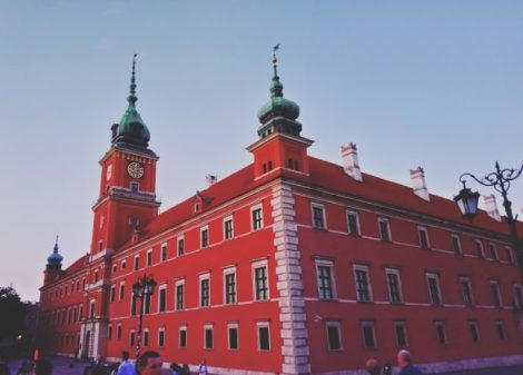 warsaw old town with study work travel blog