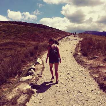 Climbing Snowdon with study work travel blog
