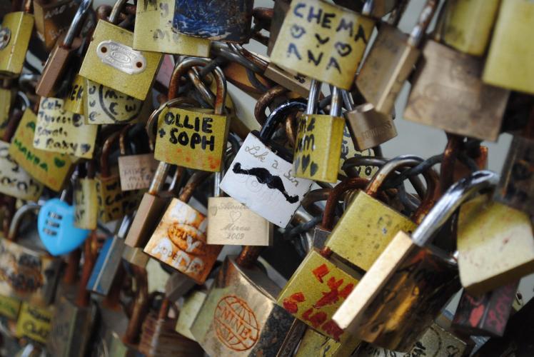 Paris Seine bridge with Study Work Travel Blog