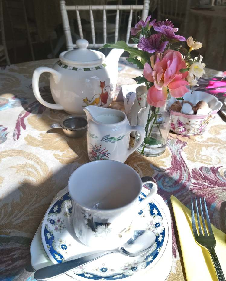 Whitmore Tea Rooms table setting with Study Work Travel Blog