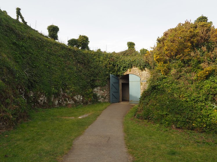 Pendennis castle tunnels with Study Work Travel Blog