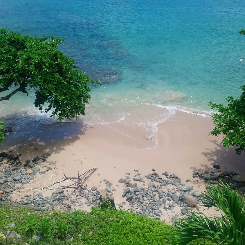 Secluded Saint Lucia beach with Study Work Travel Blog
