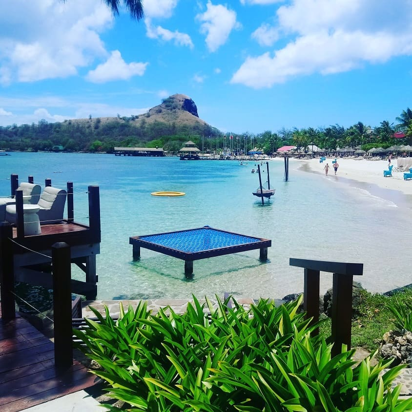 Saint Lucia beach with Study Work Travel Blog