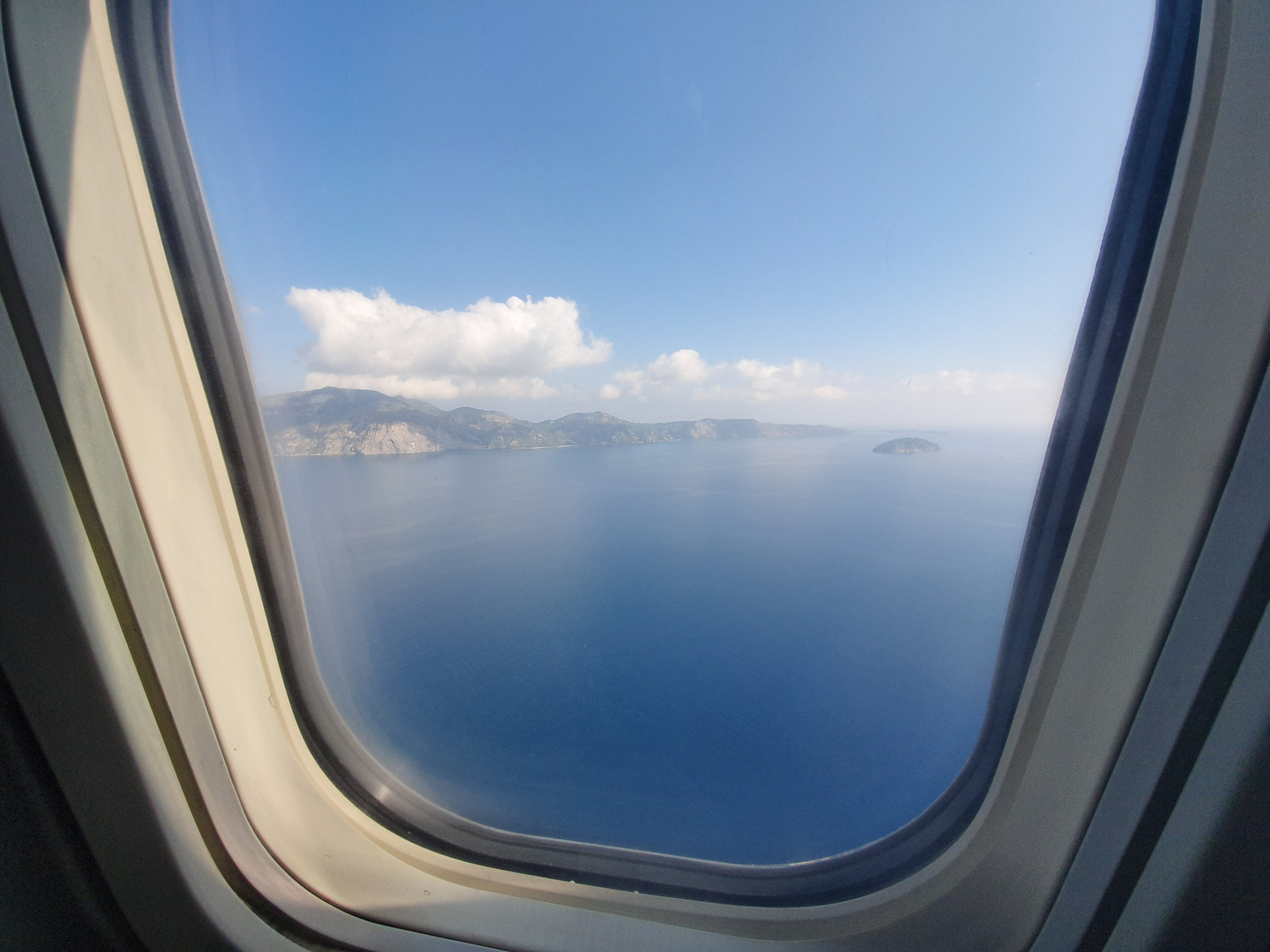 View from the aeroplane of zakynthos