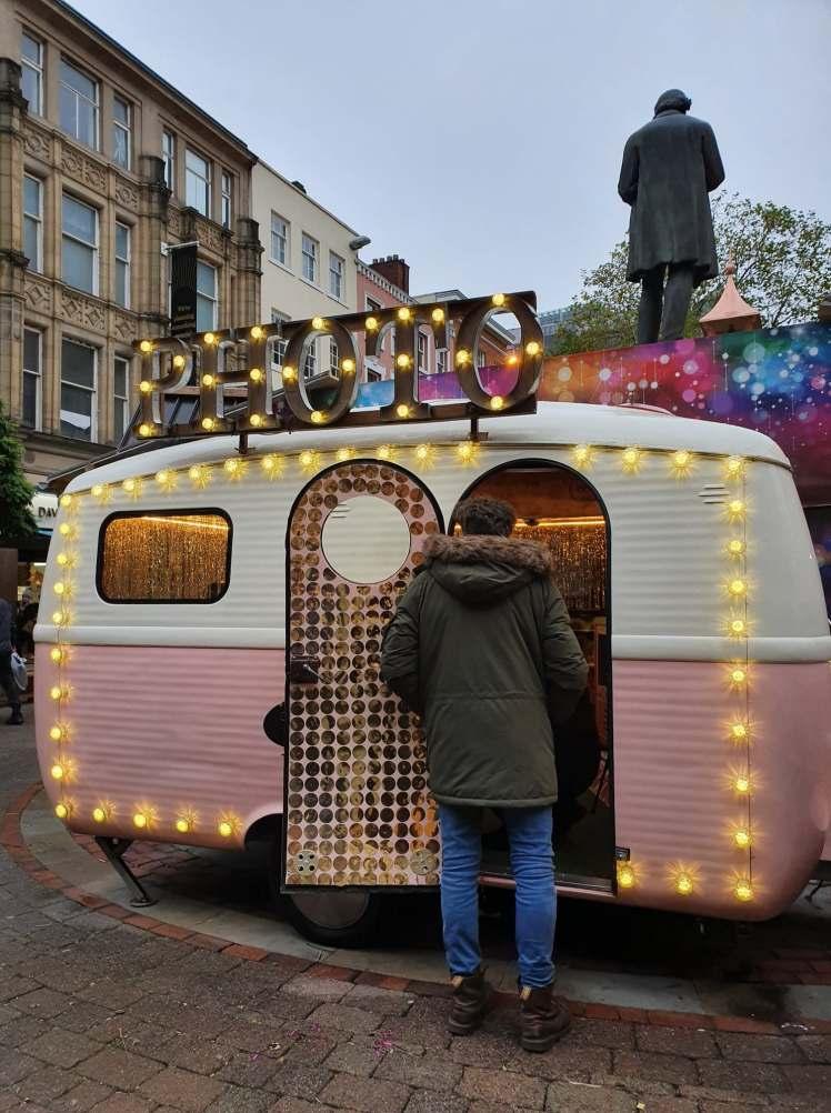 Photo caravan, Manchester christmas markets