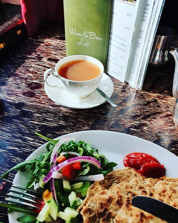 menu at the roaches tea room, staffordshire